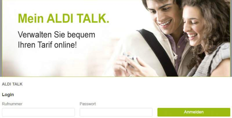 ALDI TALK Login