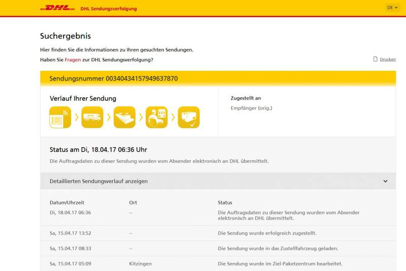 DHL Tracking Download