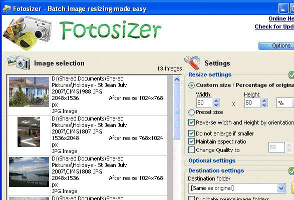 Fotosizer download