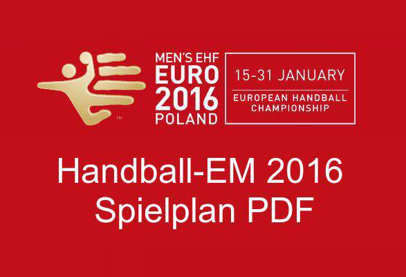 Campeonato Europeu de Andebol 2016 agendamento de download