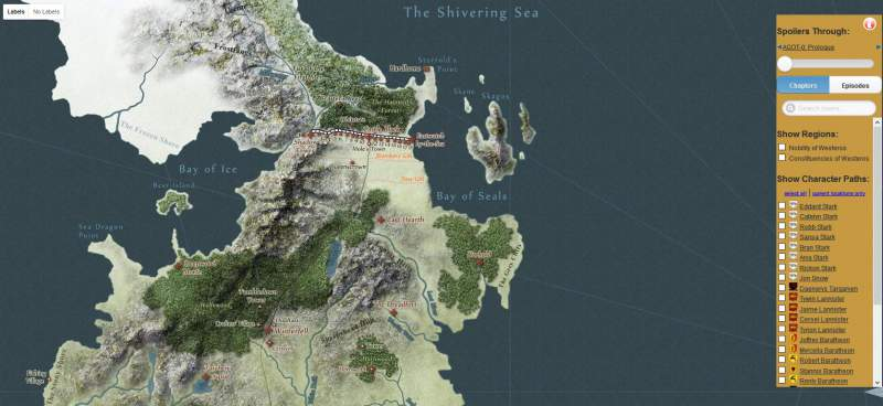 Game of Thrones Map Download Westeros