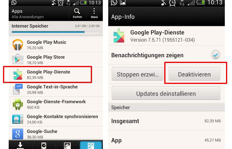 Google Play services clear method