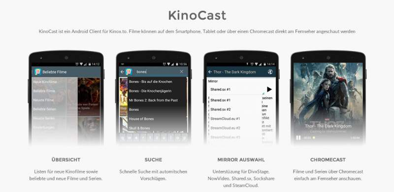 Cinema Cast app