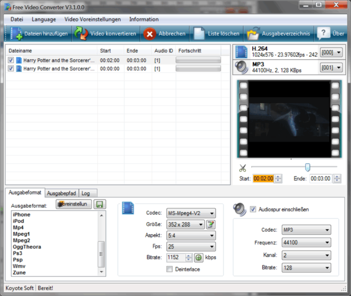 koyote free video converter gratuit
