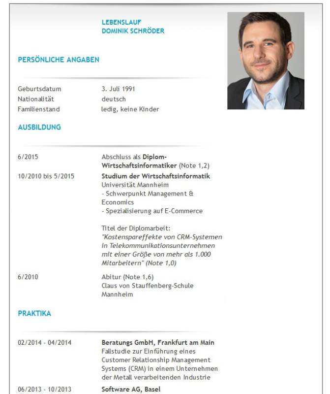Resume writing with professional Word template