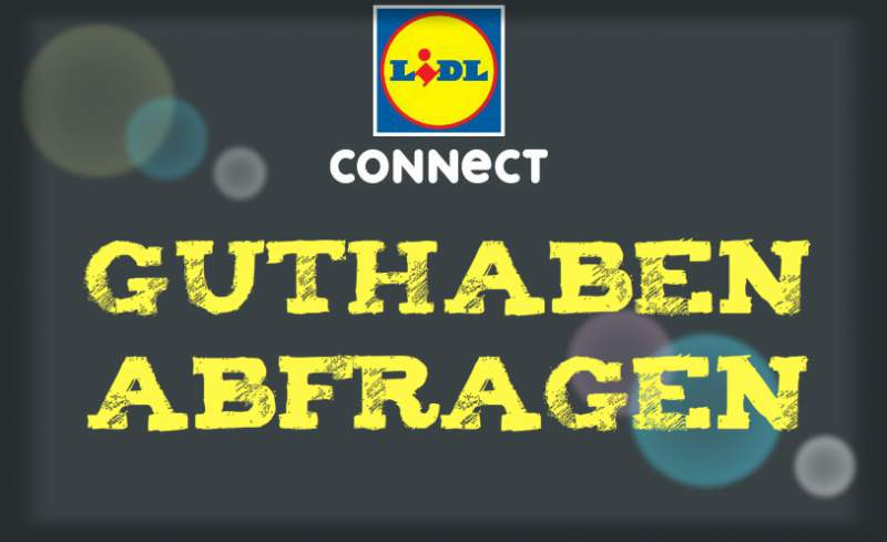 Controleer Lidl Connect balances