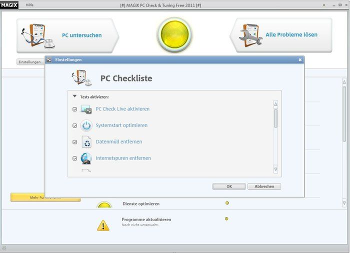 MAGIX PC Check & amp; Tuning gratuit Check-list Télécharger