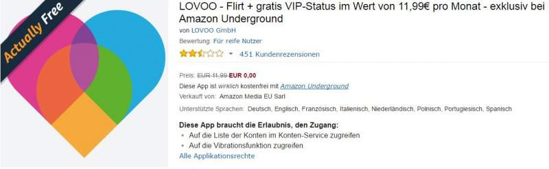 LOVOO VIP TÉLÉCHARGER