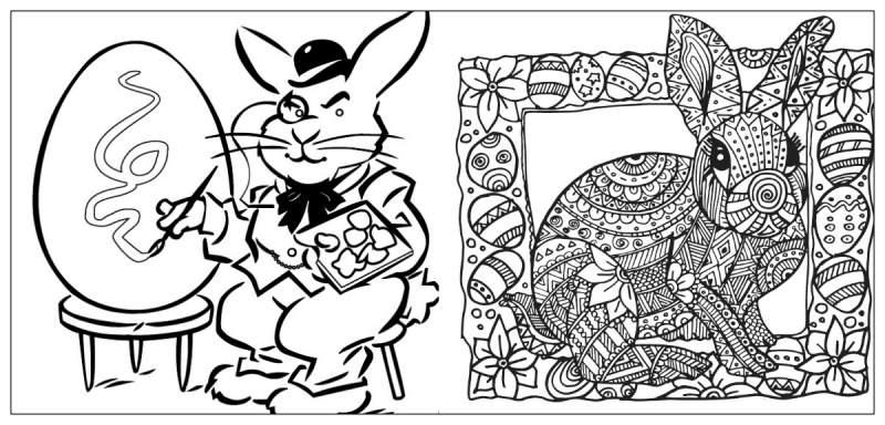 عيد الفصح الأرنب التلوين