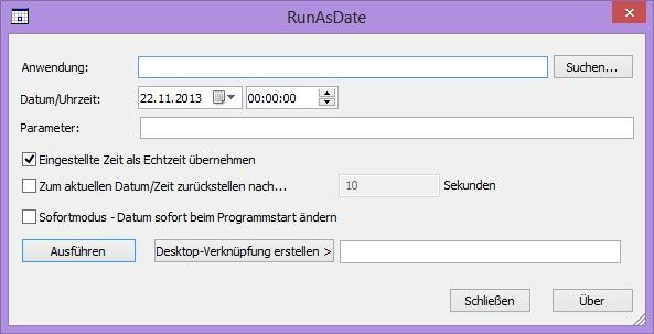 run as date how to use