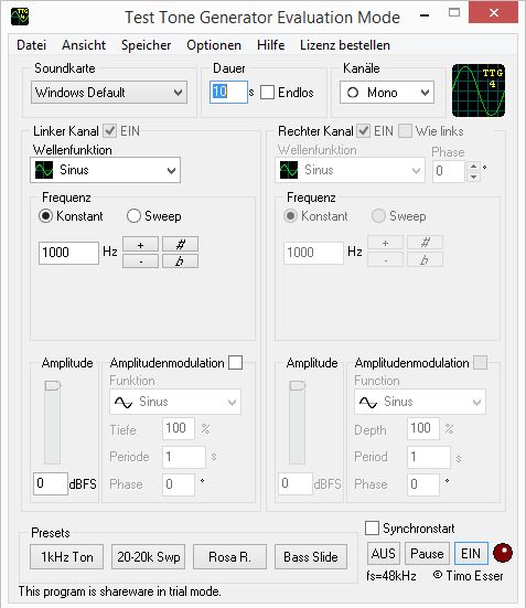 Download free wav test tone generator, wav test tone generator 0. 2.