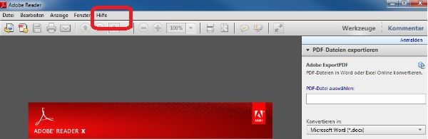 Update Adobe Reader