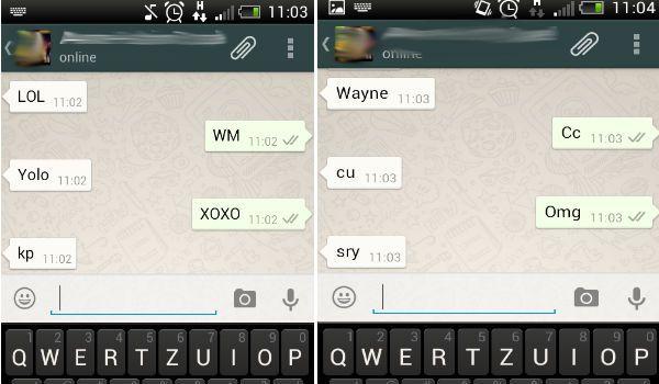 Abkürzungen Whatsapp