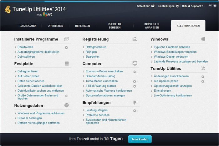 TuneUp Utilities Download Overview