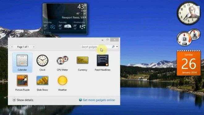 Download and install windows 7 gadgets for windows 10.