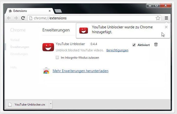 YouTube Unblocker Chrome
