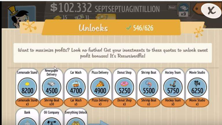 Adventure Capitalist fraude Unlock