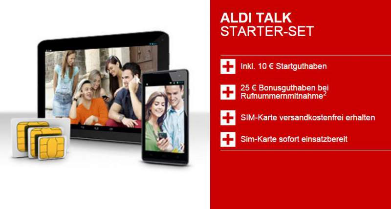 ALDI TALK Starter Set basic tariff