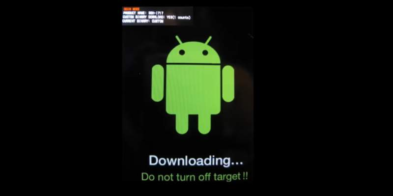Downloading - do not turn off target