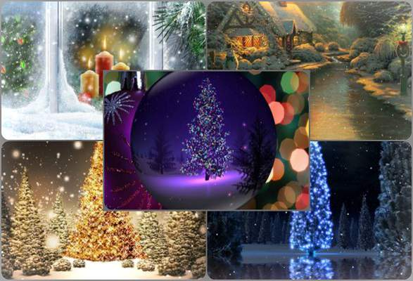 Animated Kerst Wallpaper Download