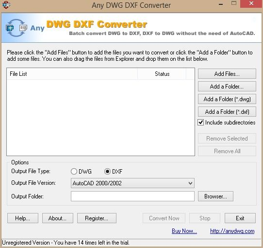 Any DWG DXF Converter download