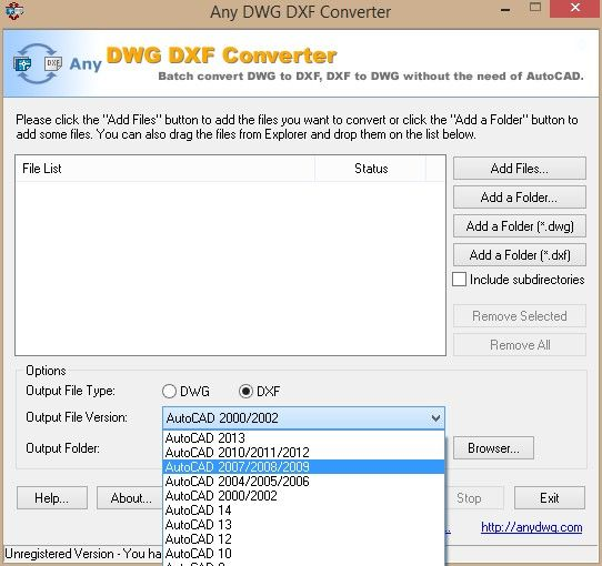 Any DWG DXF Converter download format