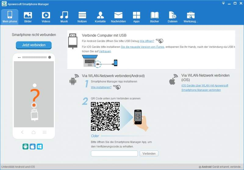 Apowersoft Smartphone Manager Télécharger USB