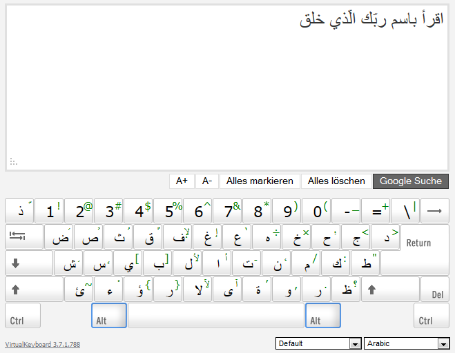 Arabic Keyboard Online Download