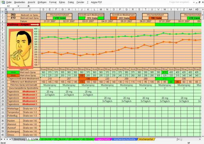Asthma COPD Peak Flow Monitor Download