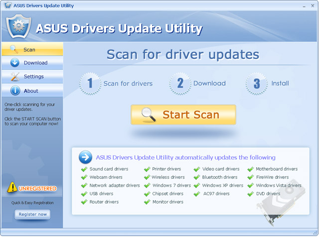 asus driver download free windows 7