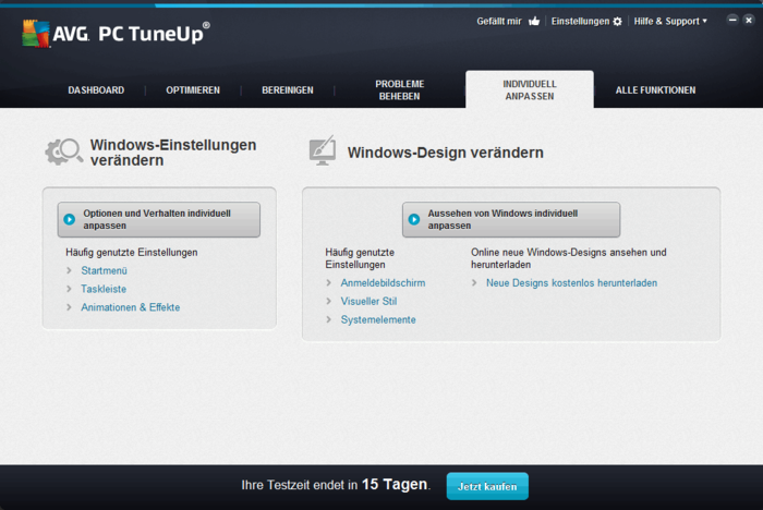 AVG PC Tuneup Download Design