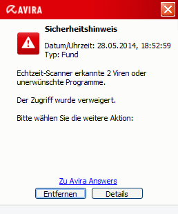 Avira Free Antivirus Download Security Notice