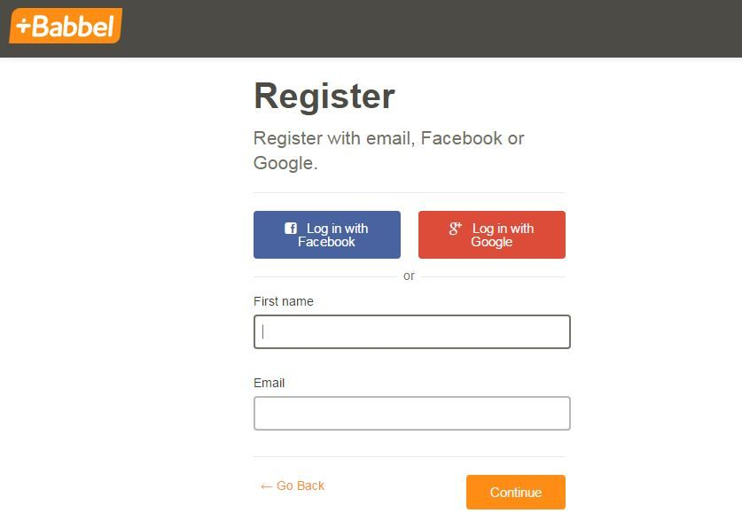 Babbel cost registration