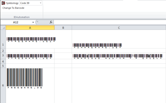 Barcode Add in for Word and Excel Download