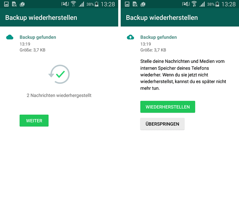 WhatsApp old version restore backup