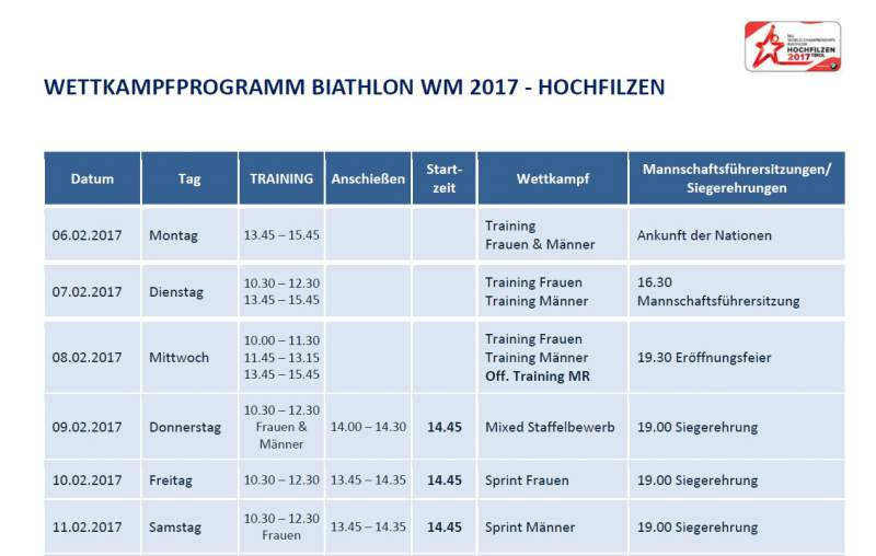 Biathlon World Cup kalender te downloaden