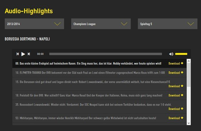 BVB netradio download archive