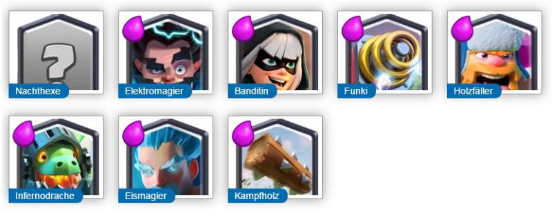 Clash Royale Legendary card selection