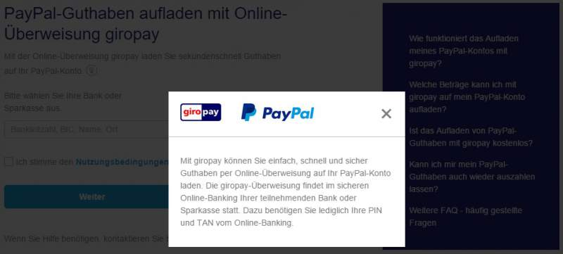 Charge compte PayPal