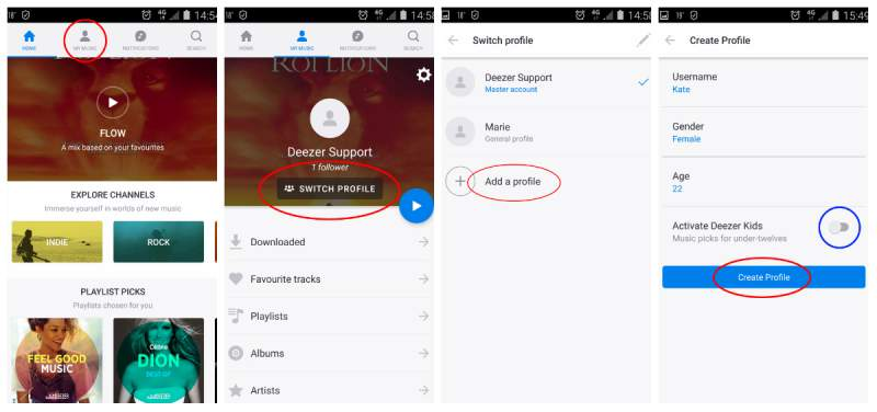 Create Deezer Family Account and add users