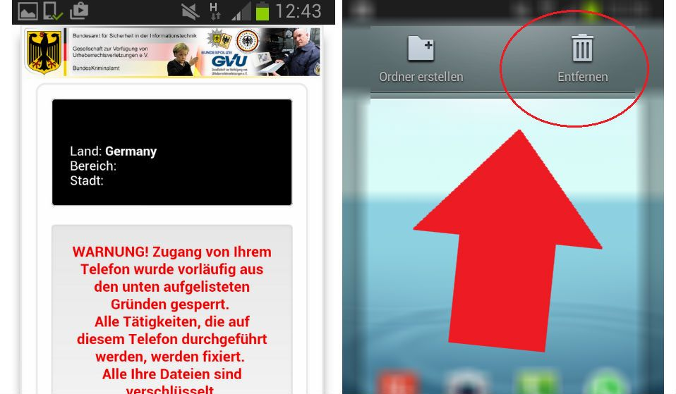 Verwijder Federal Trojan Android