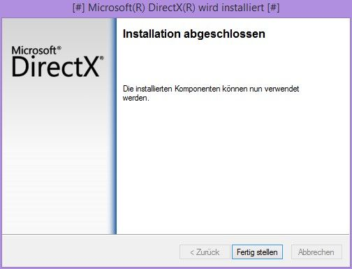 DirectX Download Installation