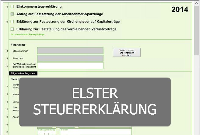 Elster tax return