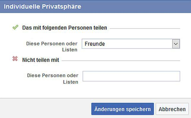 Facebook Come riferimenti Nascondi privacy