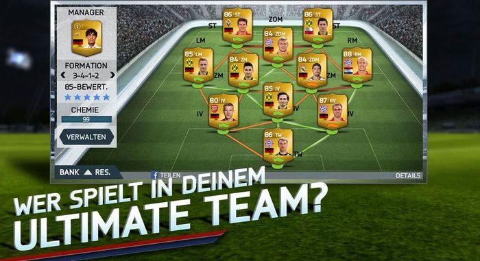 Fifa 14 team Android
