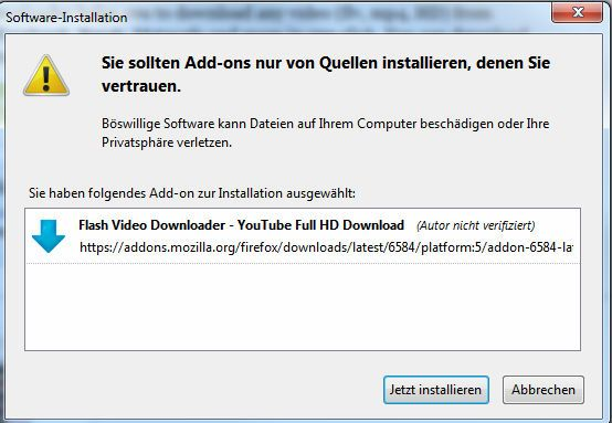Instalación de Flash Video Downloader para Firefox