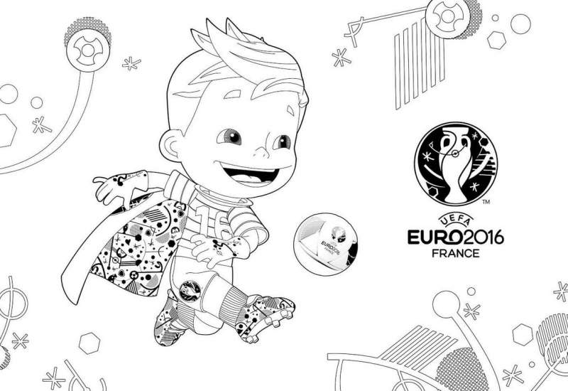 Football Euro 2016 Fond d'écran Télécharger Coloring Book