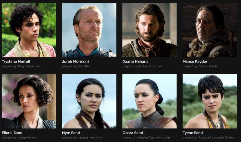 Game of Thrones acteur acteur