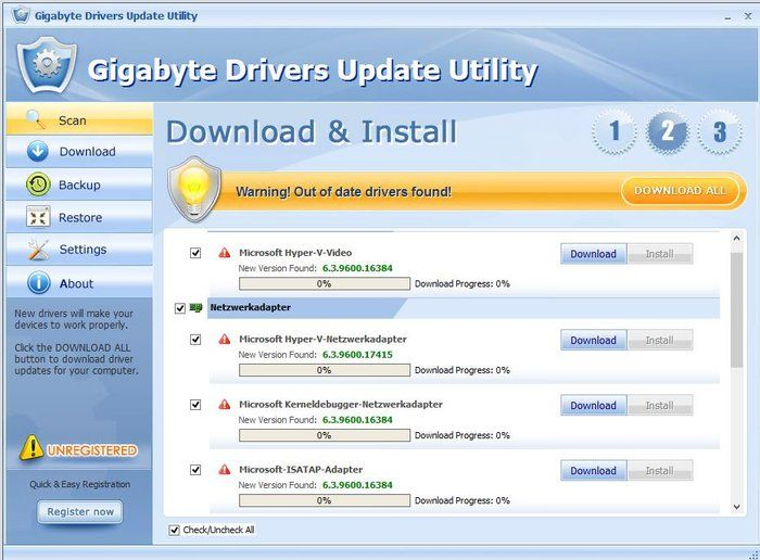 Gigabyte Drivers Update Utility Download Results