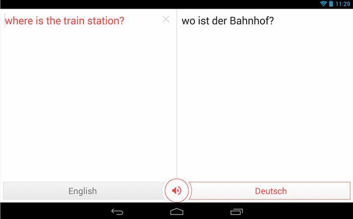 Google Translate app examples